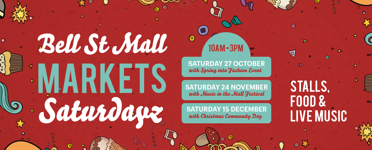 Bell St Mall Market Saturdays