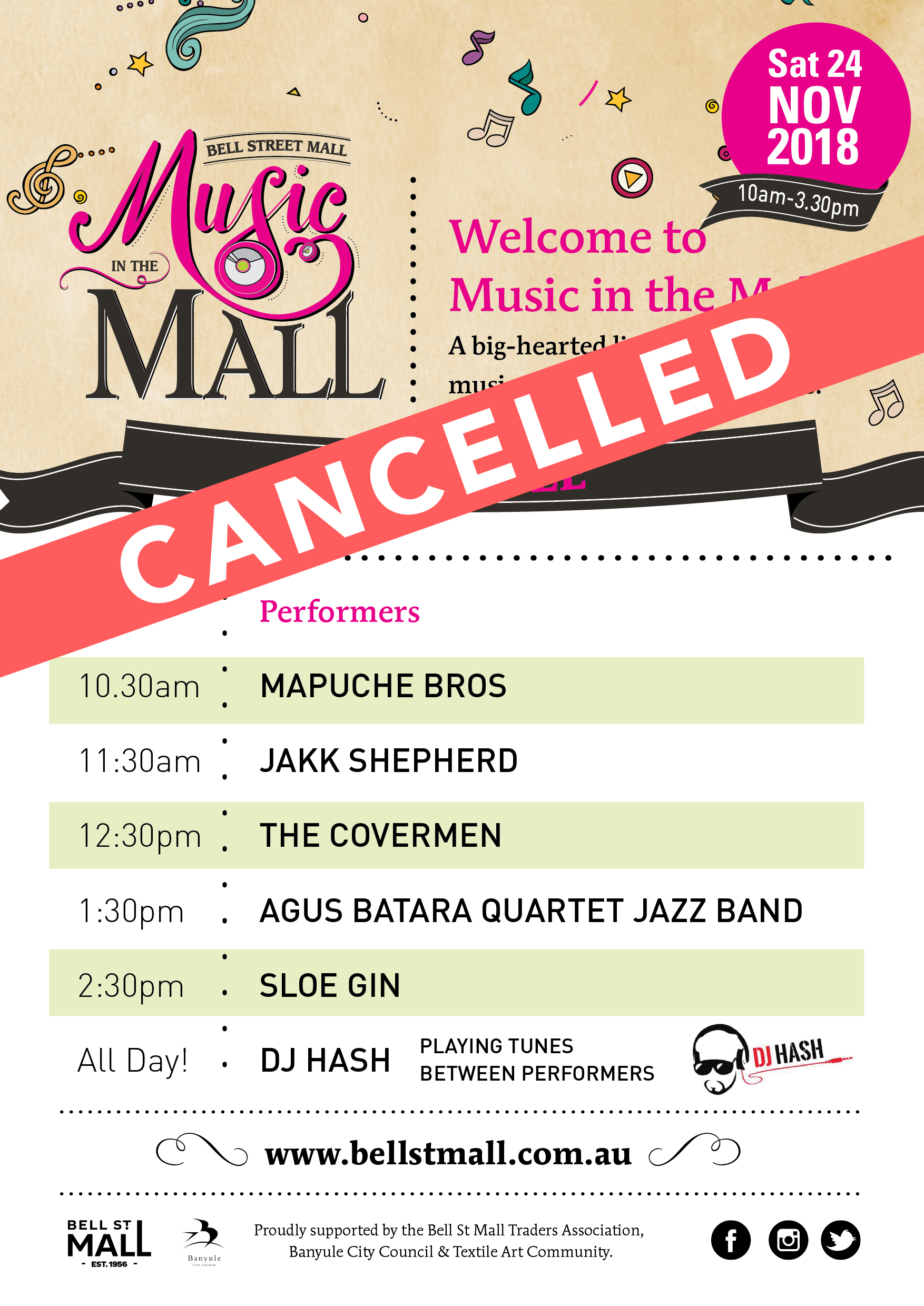 Music in the Mall, Music Festival