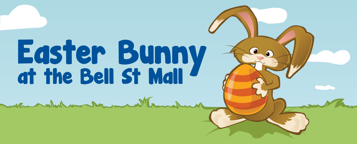 Easter Bunny at Bell St Mall